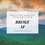 Saving money for travel