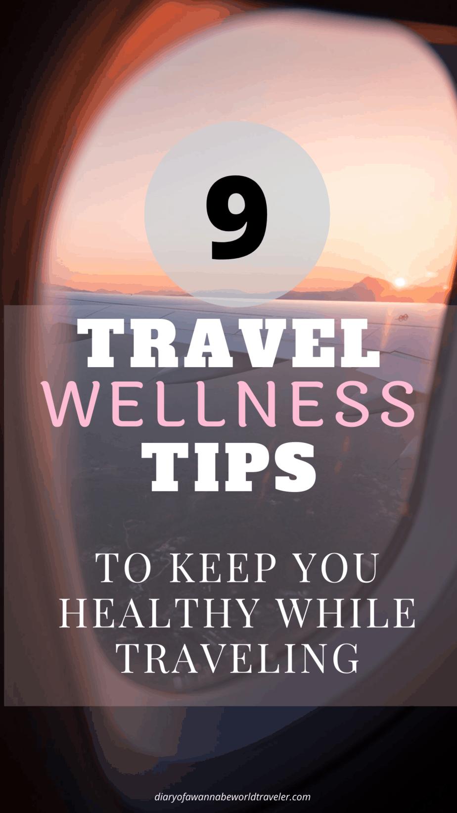 Travel wellness tips pin