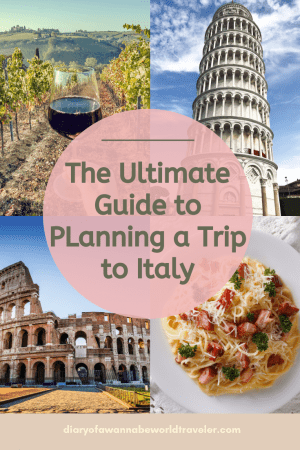 Italy Trip Planning Pin