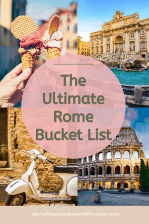 The Ultimate Bucket List Rome