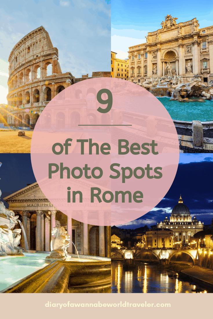 Best photo spots in rome