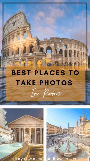 Rome Photo spots pin