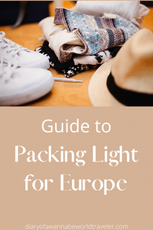 Packing light for europe pin