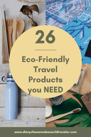 Eco-friendly travel products pin
