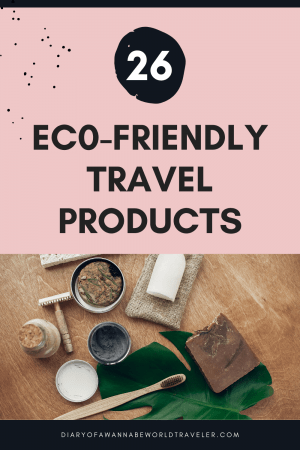 Eco-friendly travel gear pin
