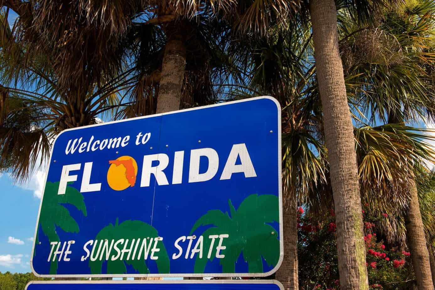 Florida travel tips- Sunshine State Sign