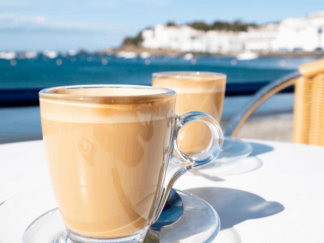 Caffee Macchiato at a waterside bar